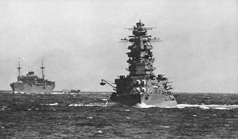IJN Yasukuni Maru and Nagato in October 1941