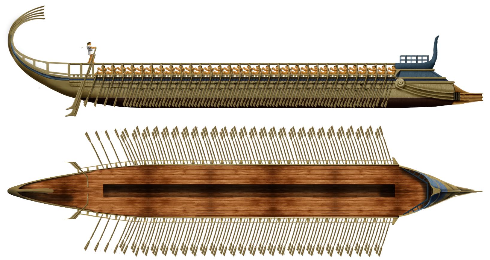 typical Greek triere at Salamis