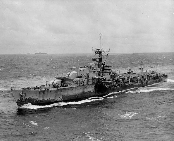 British T-class destroyer, 1945