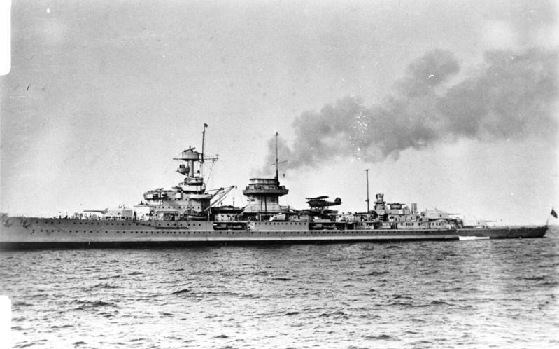 KMS Nürnberg underway, date unknown