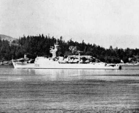 HCMS Crescent after ASW Frigate conversion in 1958