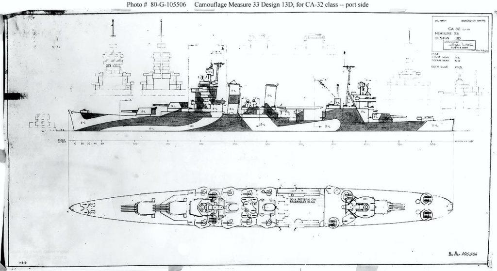 Tuscaloosa 1944 ship camouflage measure 33 scheme