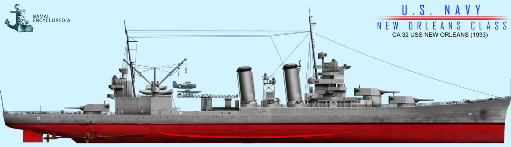 USS New orleans 1936