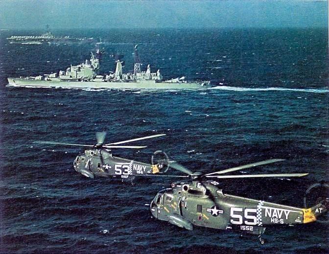 HTMS De Zeven Provincien and USS Essex in 1967
