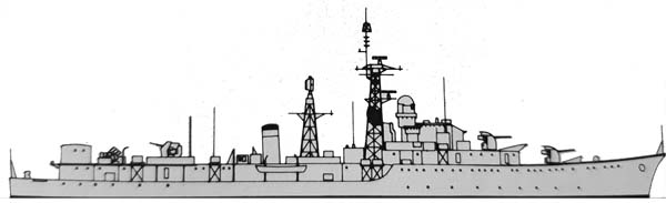Profile of the Weapons class, as converted in radar picket