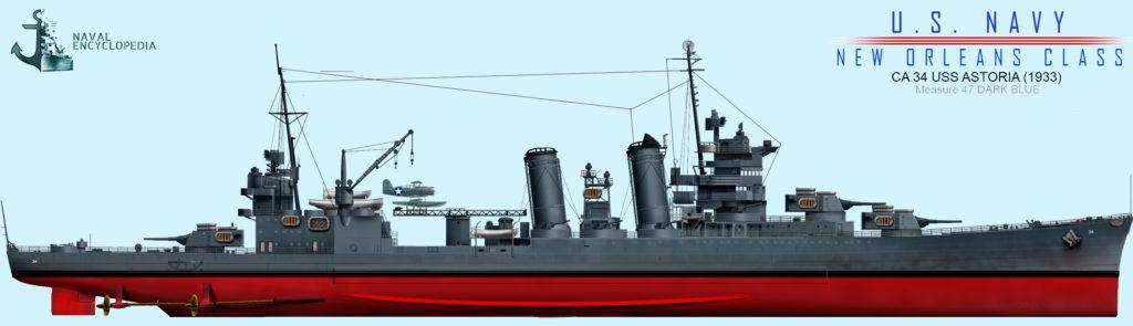 USS Astoria measure 47, 1943