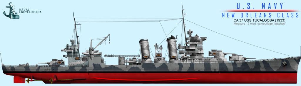 USS Tuscaloosa 1942, measure 12, North Atlantic 1942