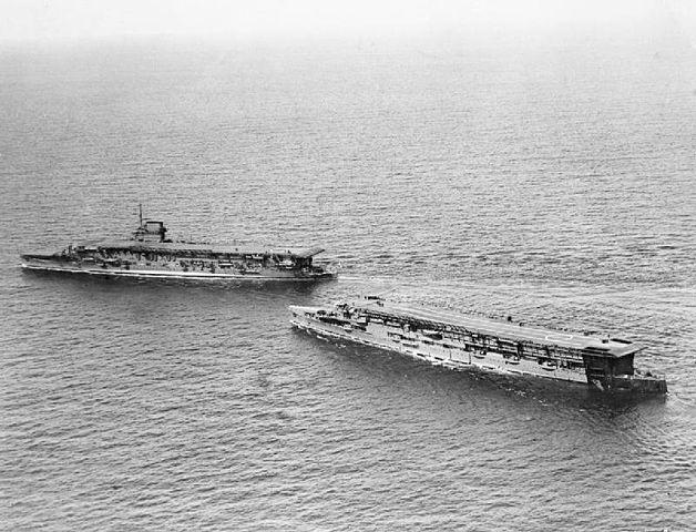 HMS Furious and Courageous