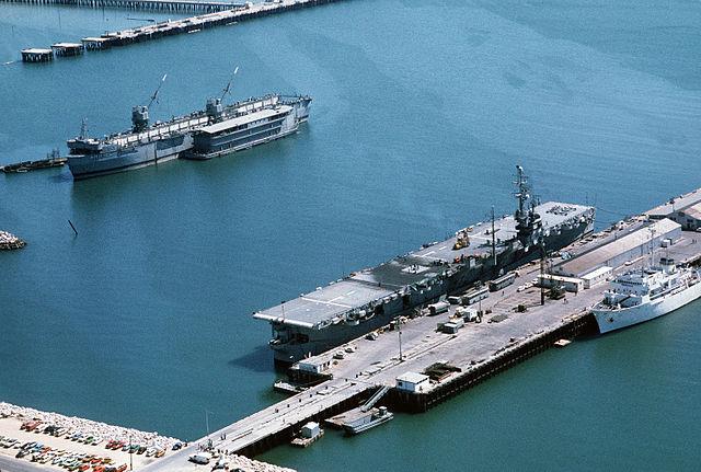 SNS Dedalo at Rota naval base in 1976