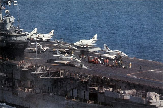 A4F launched from USS Hancock in 1969