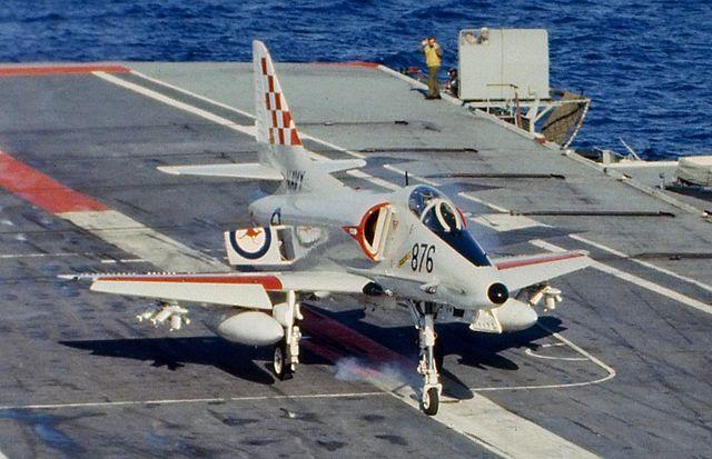 A4 Skyhawk onboard hmas Melbourne