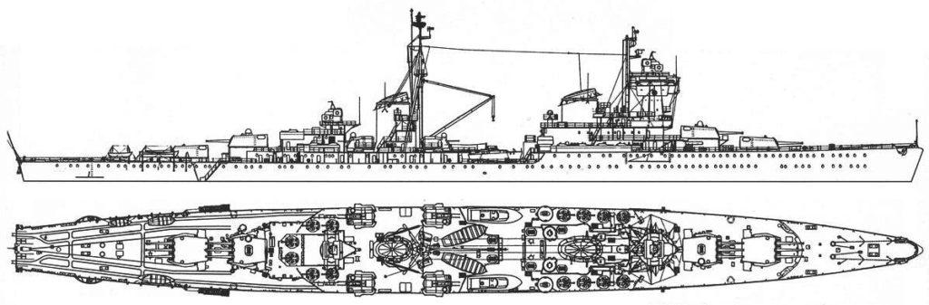 Schematics of the Chapayev class