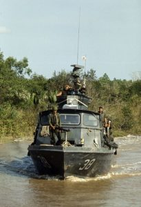 PCF 38 on patrol Cai Ngay river 1972