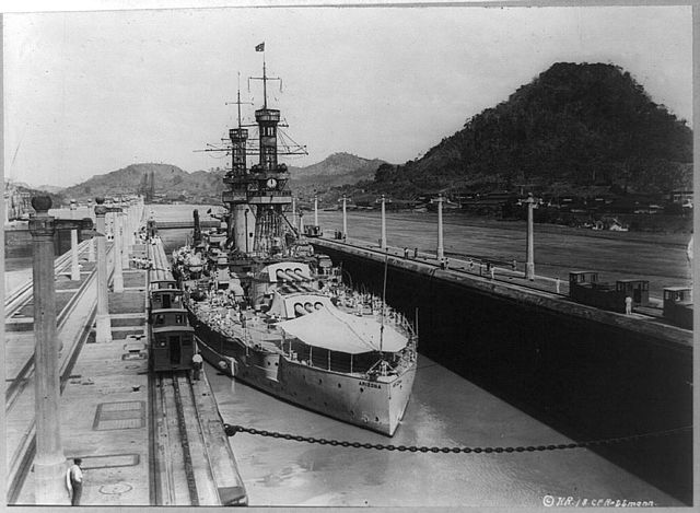 Through the Panama canal in 1921