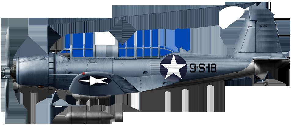 SB2U Vindicator at Midway, May 1942