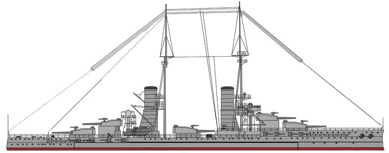 Battleship scheme in 1913