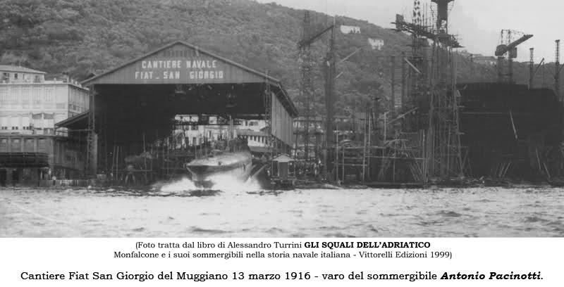Launch of Pacinotti at the FIAT-San Giorgio Yard