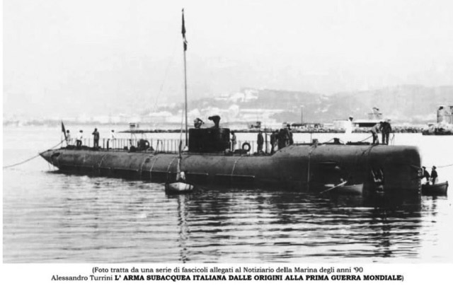 The submarine Ballila in 1915