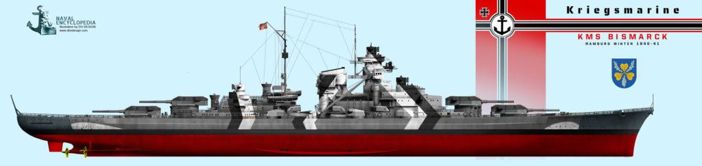 Bismarck in the winter of 1940-41 in Hamburg
