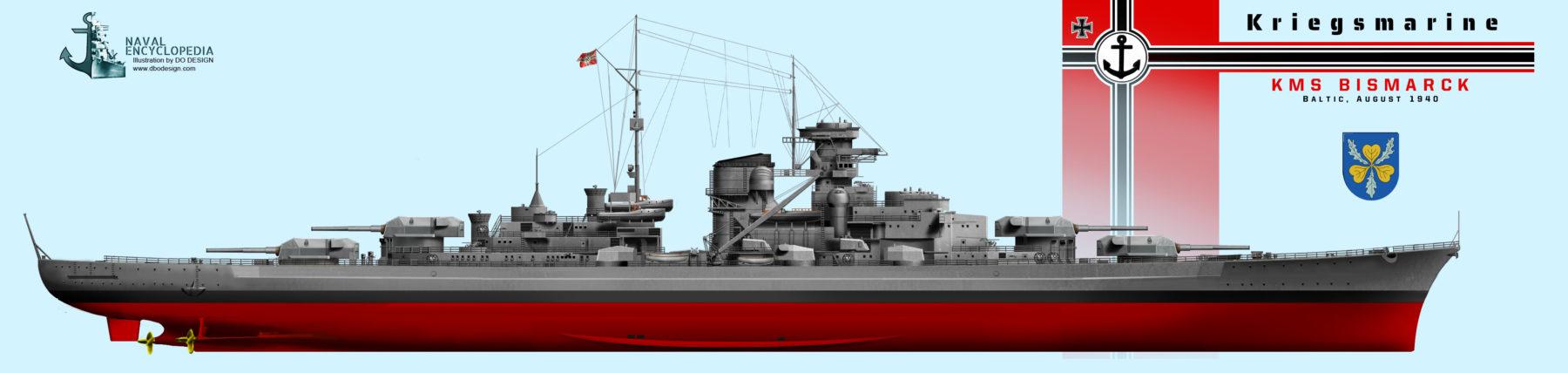 KMS Bismarck in August 1940