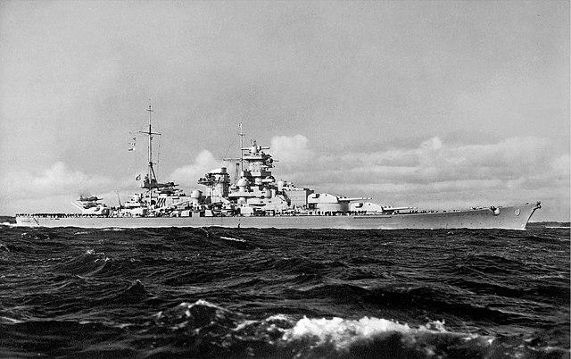 Scharnhorst at sea