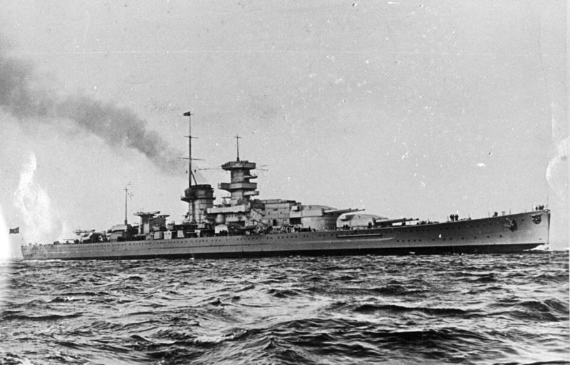 KMS on sea trials in 1938