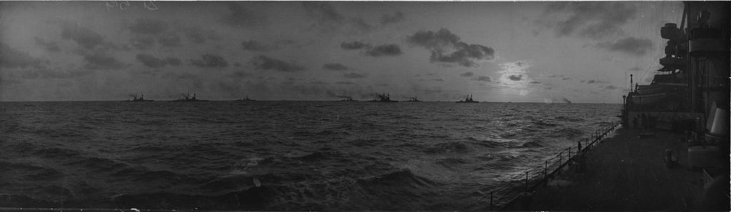 The 1st battle squadron at sea in 1915