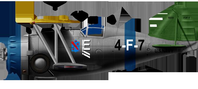 Grumman F3F-3, USS Ranger 1940