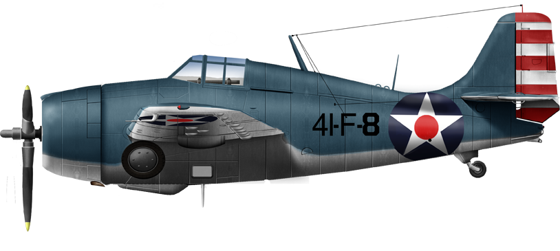 Grumman F4F3A of the VF41 in early 1942