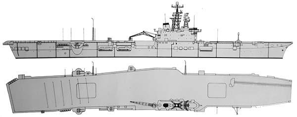 HMCS Bonaventure, conways profile and top views