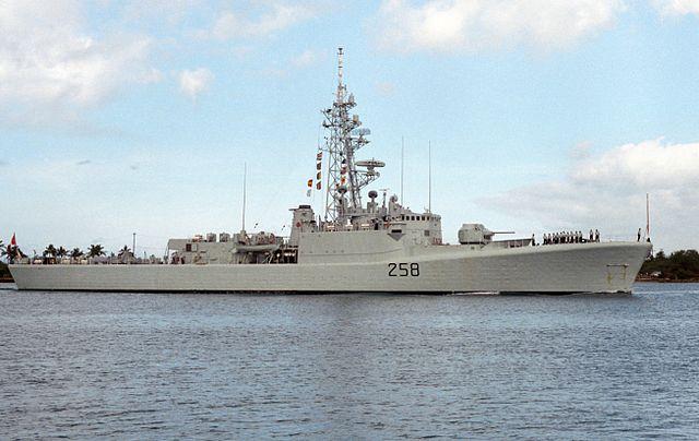 HMCS Kootenay in Pearl harbor