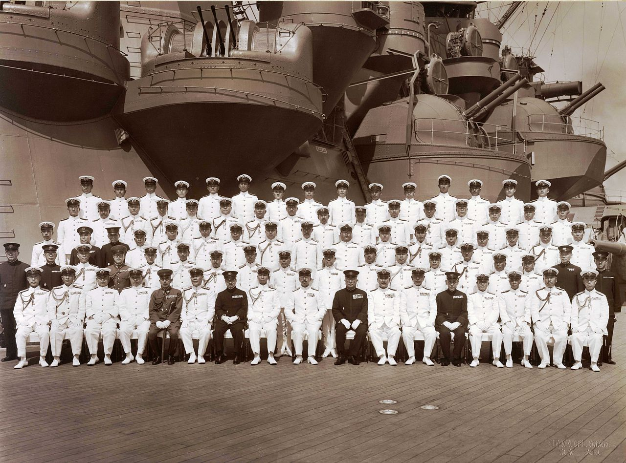 High-ranking officers and Emperor Hirohito