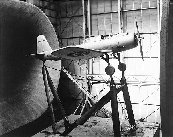SB2U-1 tested at NACA wind tunnel facility, 24 Sept. 1937