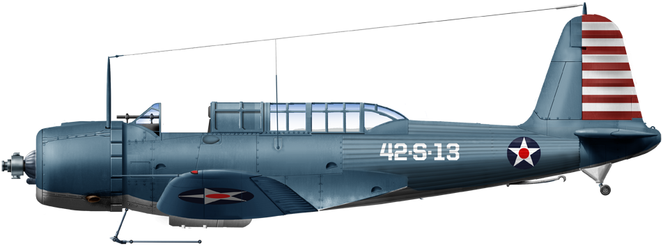 SB2U-2 of VS42 onboard CV4 USS Ranger circa early 1941