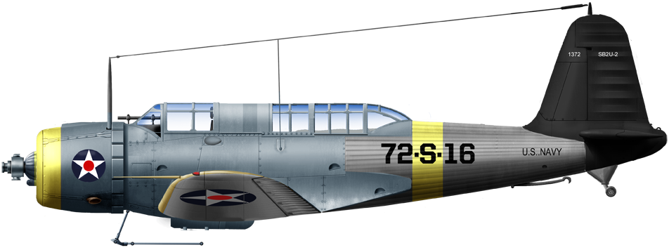 Vought SB2-U of VS-72 onboard USS Wasp upon completion in 1940