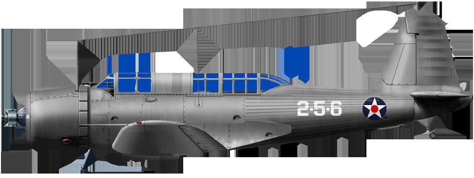 SB2U-3 of VMSB-231 at Ewa airfield, Hawaii, 7 December 1941