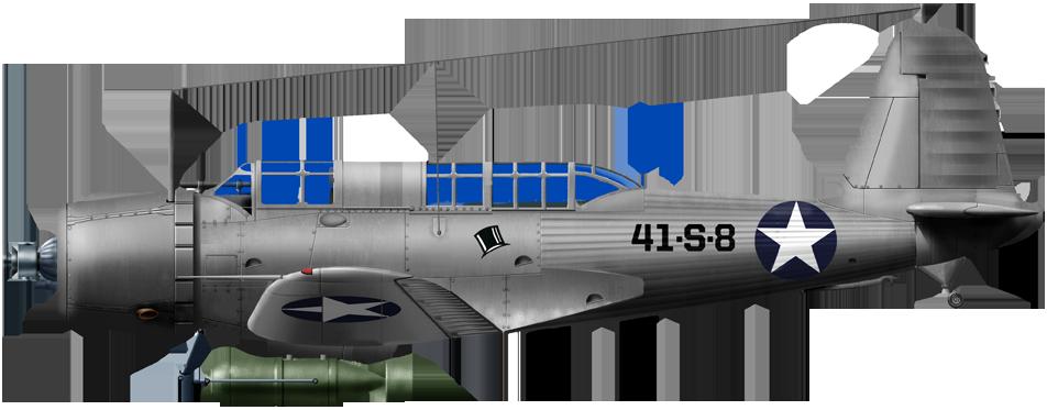 SB2U-3 of VS41 onboard USS Ranger, 1941