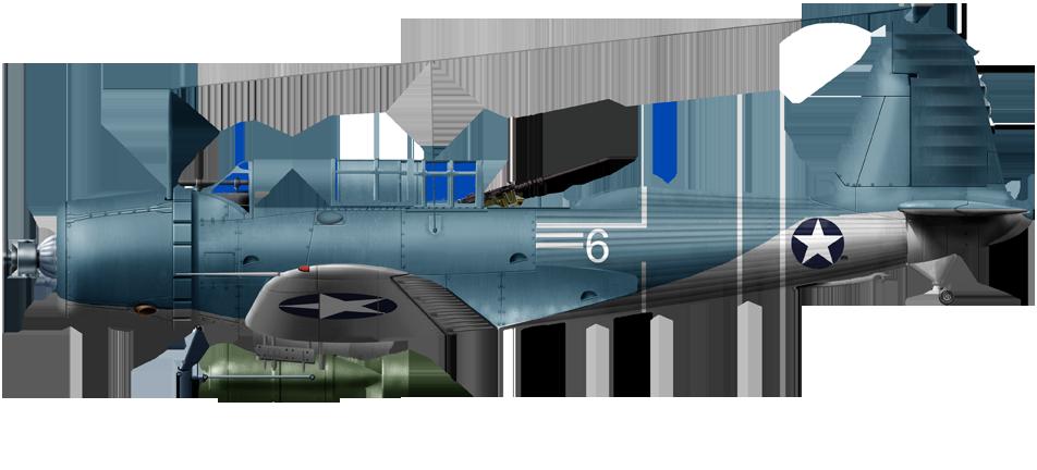 SB2U-3 Vindicator Buno 2045, Lt. Marmande VMSV-241, Midway Island, June 1942