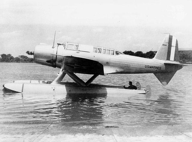SB2U-3 floatplane version prototype, NAN-7-62 1937