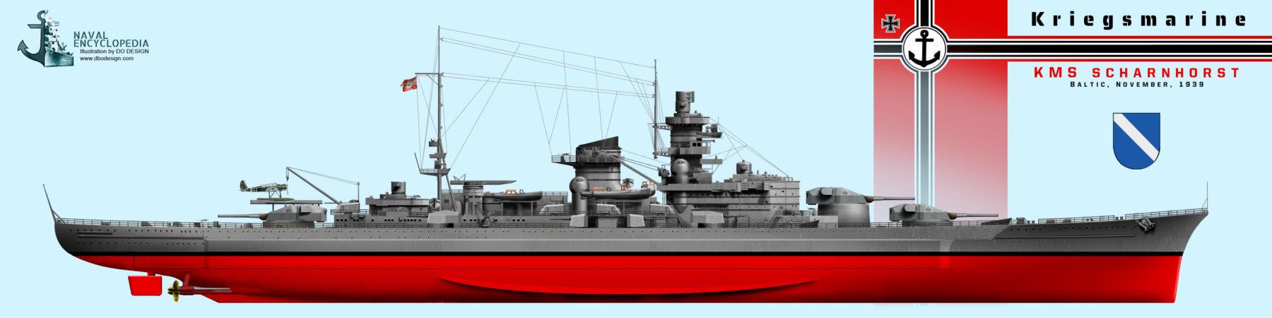 KMS Scharnhorst November 1939 training in the baltic