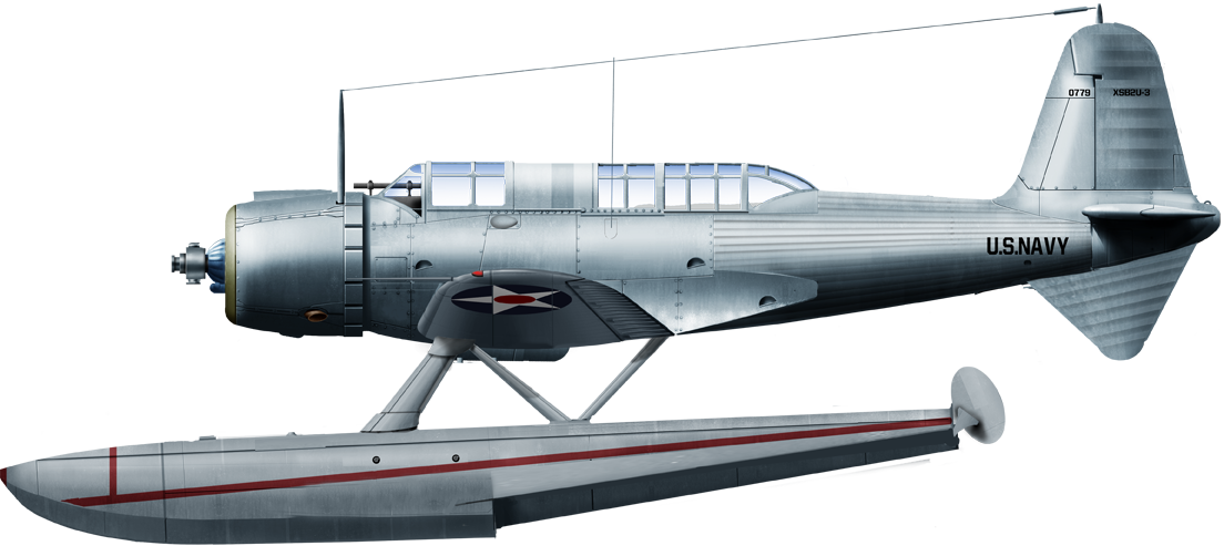 The only floatplane version, alternative prototype of the SB2U-3 in 1938. Colors are prospective