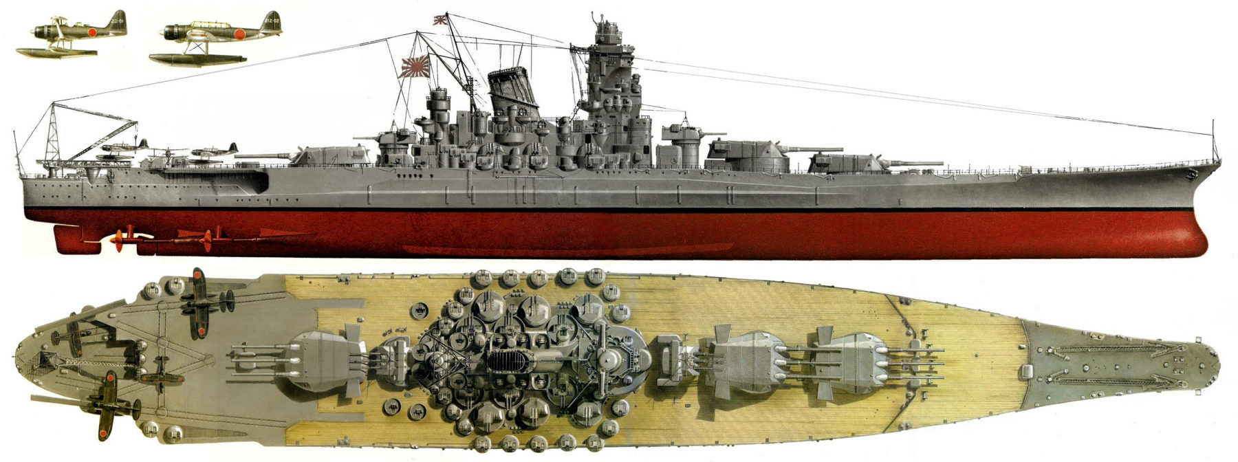 large illustration about the Yamato