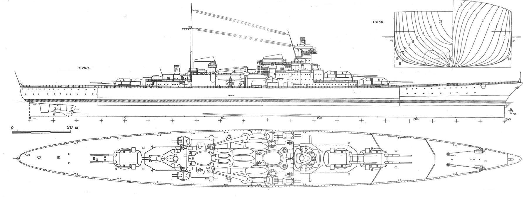HD version of the design upgraded to the 38 cm caliber turrets