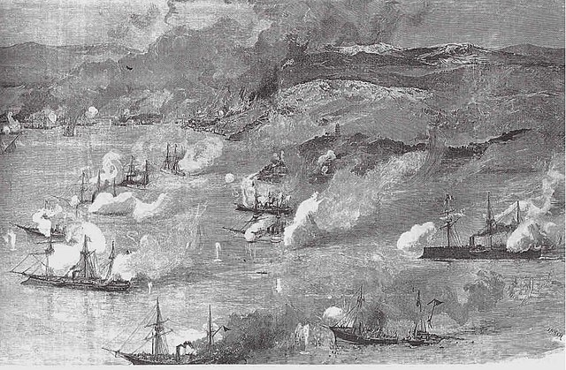 The battle of Foochow in 1884