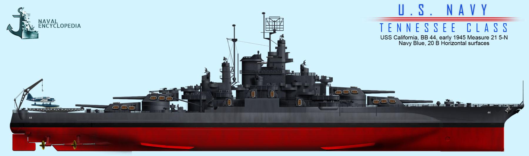 USS California in 1945