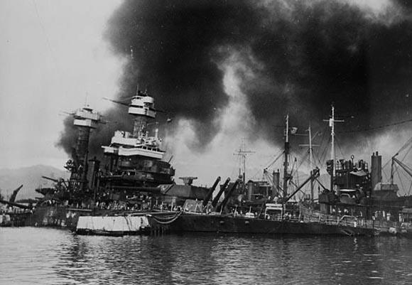 USS California in peral Harbor