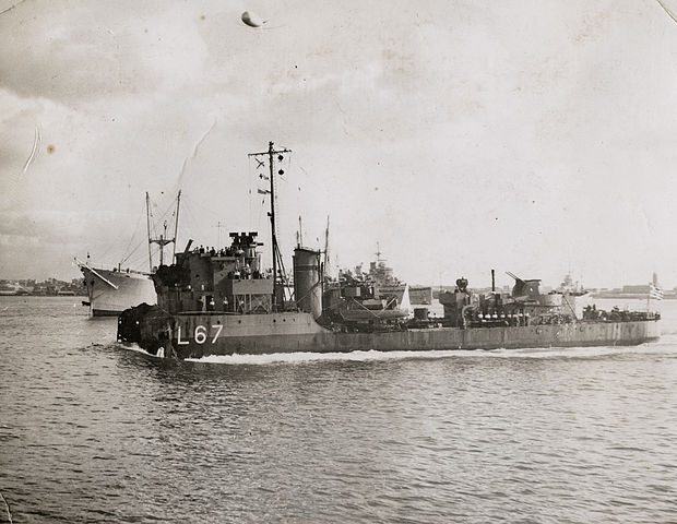 Feats of glory: The destroyer RHN Adrias back to Alexandria after the destruction of her bow in 1943
