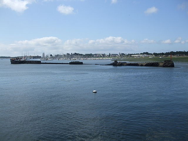 The hull of the Strasbourg in lorient as of today