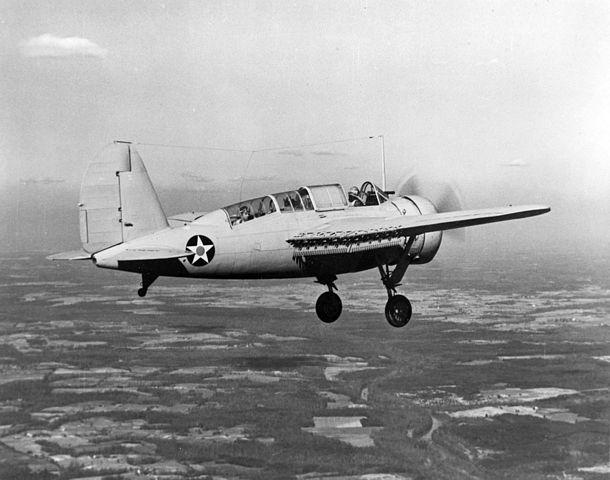 The Brewster SBA, here SBN-1 in flight in early 1941