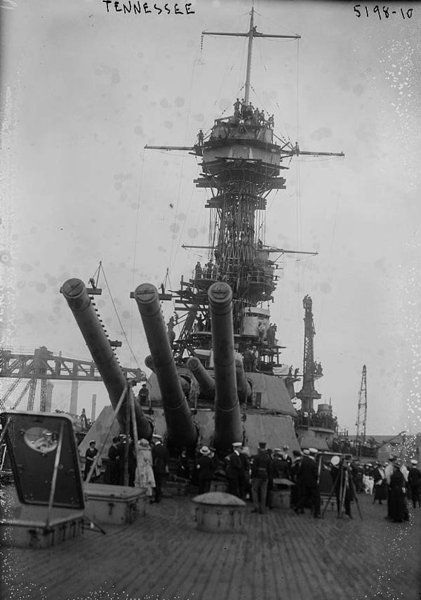 USS Tennessee during completion
